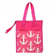 SW32531 - MULTI ANCHOR PINK INSULATED LUNCH BAG