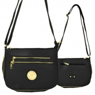 F6440 - BLACK LEATHER GOLD CHAIN / SHOULDER BAG