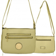 F6440 - GOLD LEATHER GOLD CHAIN / SHOULDER BAG
