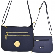 F6440 - NAVY LEATHER GOLD CHAIN / SHOULDER BAG
