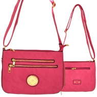 F6440 - PINK LEATHER GOLD CHAIN / SHOULDER BAG
