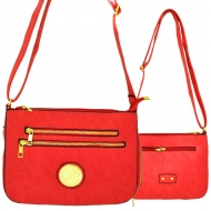 F6440 - RED LEATHER GOLD CHAIN / SHOULDER BAG