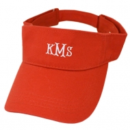 SW181347 - RED BRUSHED COTTON TWILL SANDWICH VISOR