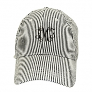 SW181351 - BLACK COTTON STRIPE CAP