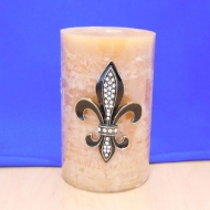10033CL - CLEAR STONE LARGE FDL CANDLE PIN