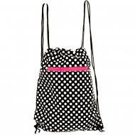 BLACK W/ WHITE POLKA DOT BAG