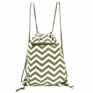 WHITE & GREY CHEVRON BAG