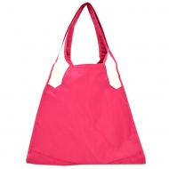 HOT PINK/WHITE TOTE BAG