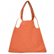 PEACH / WHITE TOTE BAG