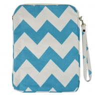 SW180621-AQUA/WHITE CHEVRON DESIGN IPAD 2 ,3 AND NEW IPAD COVER