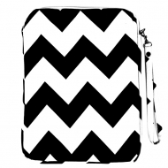 SW180622-BLACK/WHITE CHEVRON DESIGN IPAD 2 ,3 AND NEW IPAD COVER