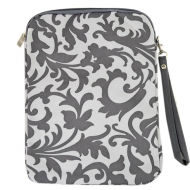 SW180624-GREY FLOWER DESIGN IPAD 2 ,3 AND NEW IPAD COVER
