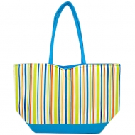 SW180599-MULTI STRIPES DESIGN INSULATED TOTE OR BEACH BAG