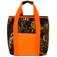 SW180609-CAMOUFLAGE INSULATED BAG W/ORANGE HANDLE