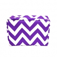 SW181224 - PURPLE & WHITE CHEVRON COSMETIC BAG