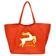SW181254 - RENDEER HAPPY HOLIDAYS CHRISTMAS HANDBAG