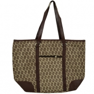 BROWN DESIGN SHOPPING BAG