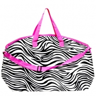 SW180571-BLACK/WHITE ZEBRA STRIPES DESIGN TRAVEl,BEACH OR SHOPPING TOTE